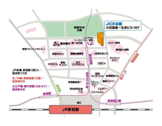 本部(東京都新宿区)地図